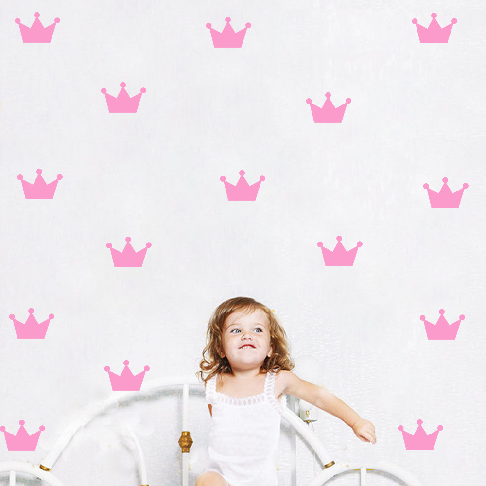 Gold crown princess wall sticker for girls bedroom removable home gold crown princess wall sticker for girls bedroom removable home decoration art wall decals diy waterproof vinyl paster in wall stickers from home garden amipublicfo Image collections
