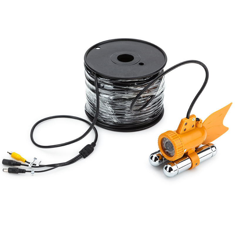 Waterproof CCTV Camera For Fishing Underwater CCD Fish Finder Video Camera 20meter Cable White LED Lights
