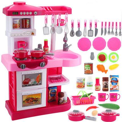 Juguetes para niños juguetes para niños casa de juego de Gran Tamaño juguetes muchacha de la cocina de cocina utensilios de cocina brinquedo menina