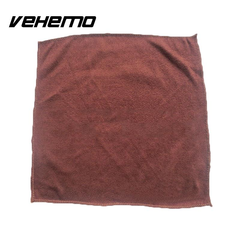 Vehemo 5pcs Soft Superfine Fiber Cleaning Towel Car Detailing Polishing Cloth Polyester
