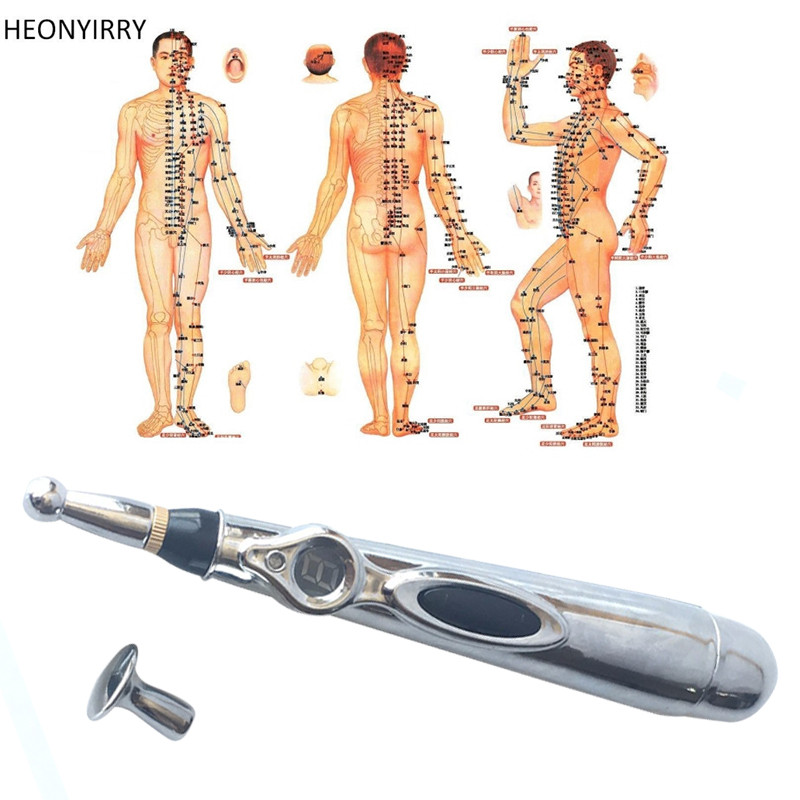 цена Electronic Acupuncture Pen Electric Meridians Laser Massage Pen Machine Magnet Therapy Meridian Energy Pen Face Lift Tools