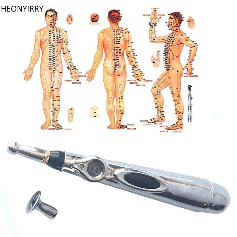 Elettronico di Agopuntura Penna Elettrica Meridiani Laser Penna di Massaggio Macchina di Terapia del Magnete Meridian Energy Penna Viso Strumenti di Lifting