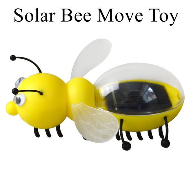 Presentes de natal Movido A Energia Solar brinquedo Abelha Crianças Xmas presente da festa de aniversário favor lembrança do presente do ano novo navidad fornecimento