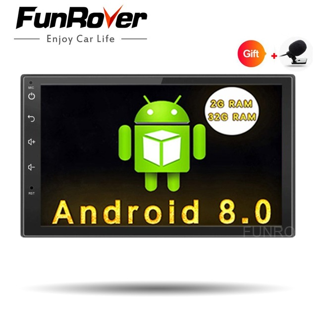 Funrover Android 80 Quad Core Car Dvd Gps Player 2 Din Radio
