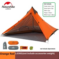 NatureHike Ultralight minaret Awning Canopy Tent outdoor hiking climbing double rainproof camping Tent
