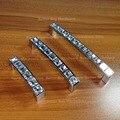 20 pcs de Cristal de Vidro de prata Gaveta Da Cômoda lida com comprimento de 105mm e CC 96mm Gabinete puxadores para Móveis puxar Bar
