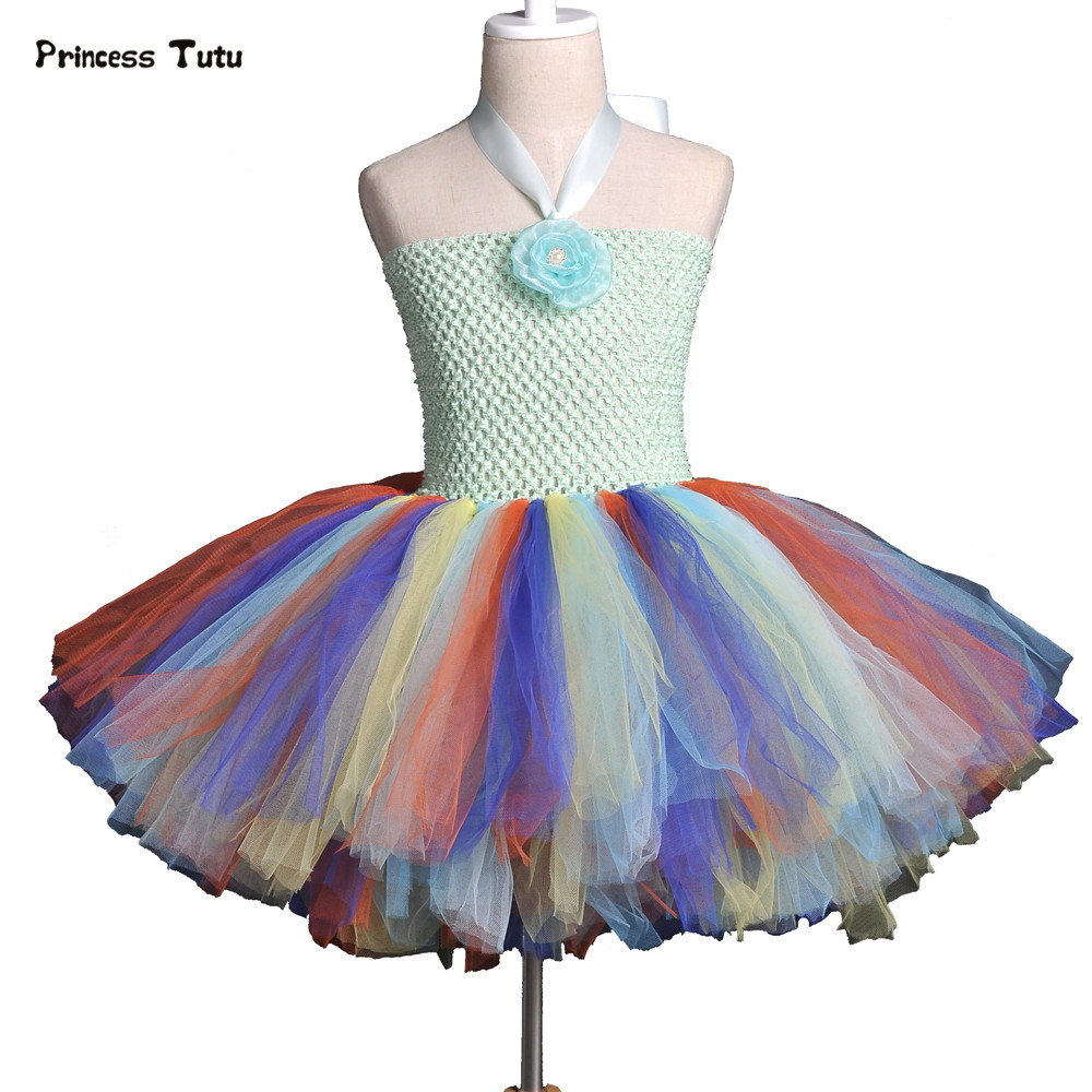 Baby Girls Tutu Dress For Girls Party Christmas Halloween Costumes Ball Gown Rainbow Princess Dress Kids Flowers Tulle Dresses fashion christmas dress girls party accessories children s halloween costumes for girls party dress kids cute birthday dresses