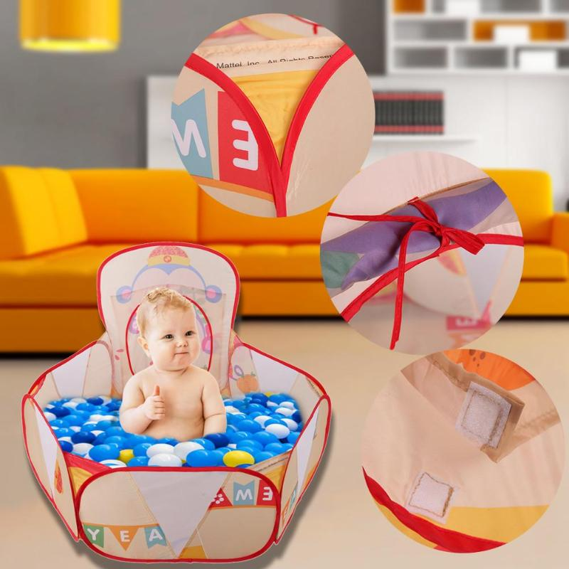 Outdoor Game Large Childrens Tent Foldable Baby Ocean Balls Basket Tent for Pool Play Toy Baby Kids Play House Tent Gifts 2018