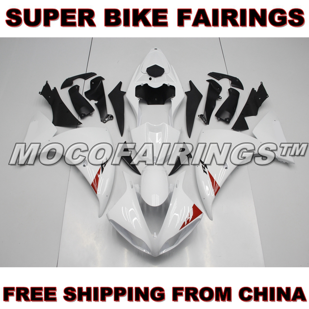 YZF R1 2009 2010 2011 Motorcycle ABS Plastic Mold For Yamaha YZF-R1 09 10 11 Injection Fairing Kit PEARL WHITE