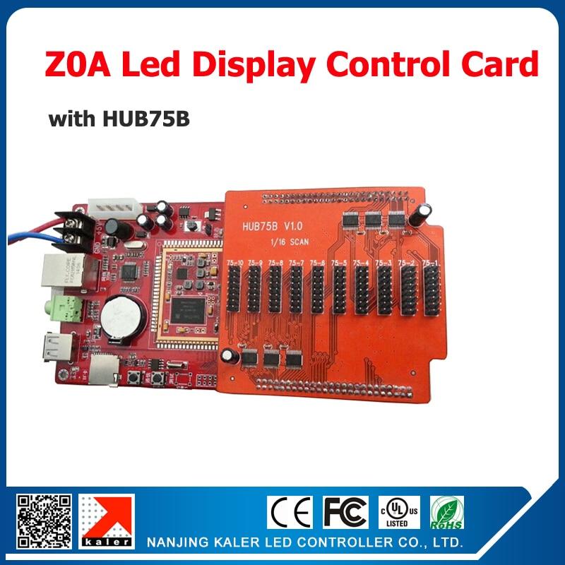 Kaler 320*1024pixel Full Color Led Video Card Z0A With HUB75B Led Video Sign Controller Led Control Card