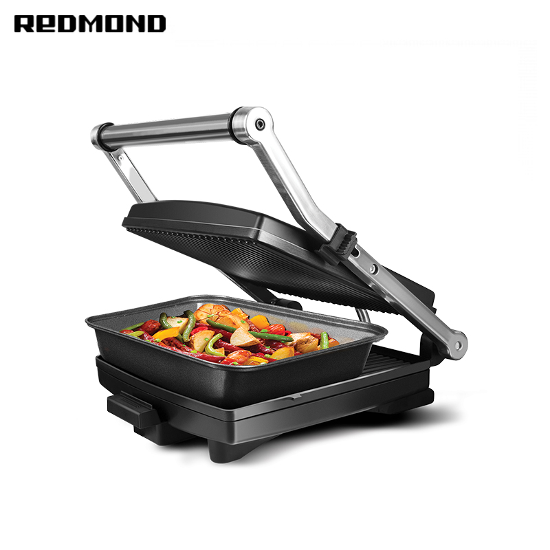 Grill-oven REDMOND Steak&Bake RGM-M803P electric grill bbq grill steam cleaning brush barbecue oven accessory heavy duty cooking tool