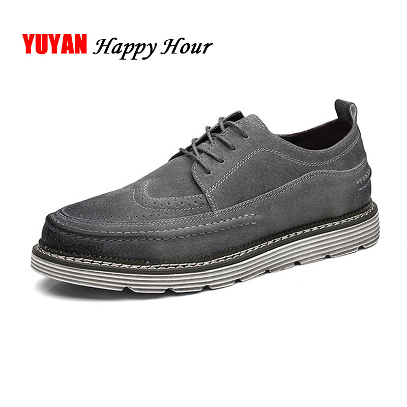Casual Oxfords Men Luxury Shoes Fashion Mens Fall Shoes Genuine Leather Thick Sole Man Casual Shoes