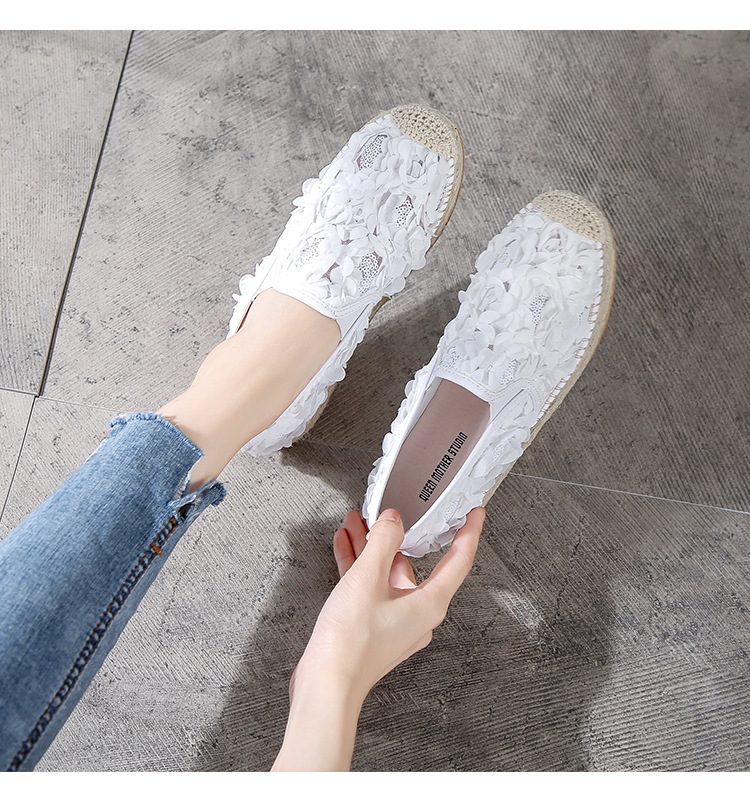 2019 women fisherman shoes female summer breathable mesh surface muffin thick bottom grass flat bottom one pedal net yarn hollow