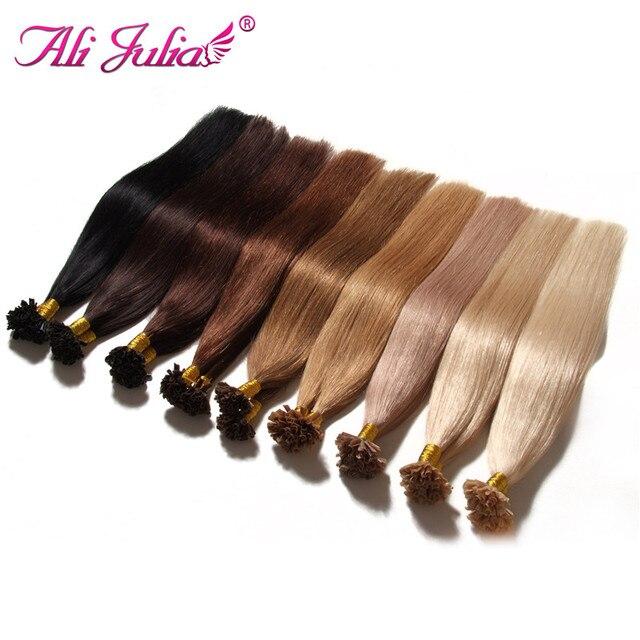 U Tip Hair Extensions Human 100g U Tip Remy Human Hair Extensions