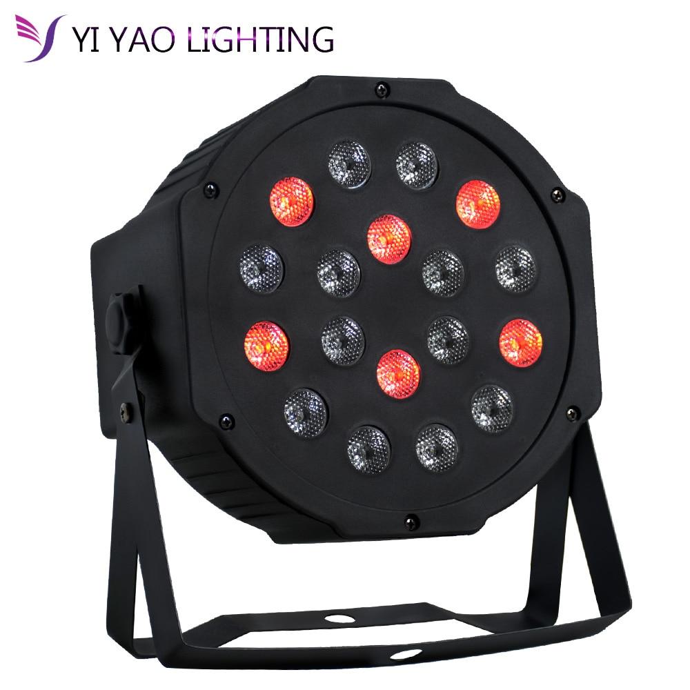 LED Par 18x3W RGB Par Light With DMX512 For Disco DJ Projector Stage Lighting