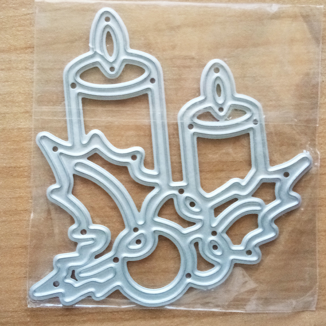 SDR Metal Cutting Dies Christmas Burning Candle Stencils For DIY Embossing Scrapbook Album Paper Card Craft
