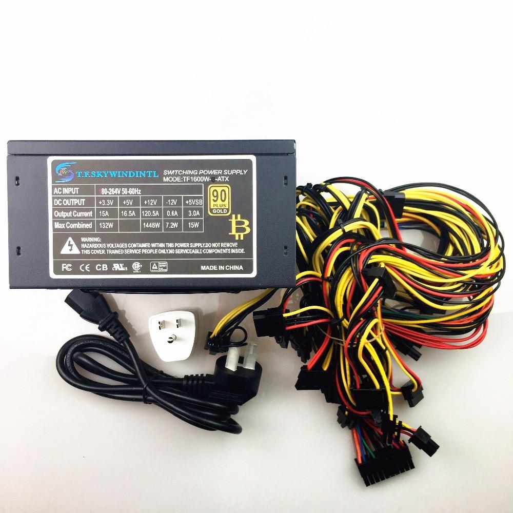 Libera la nave 1600 w psu PC power supply 110 v 220 v Minatori TX Macchina mineraria Supporto 6 Pezzi Scheda grafica Per Computer BTC Mining
