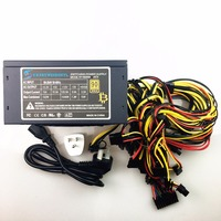 Free Ship 1600w Psu PC Power Supply 110v 220v Miners TX Mining Machine Support 6 Pieces