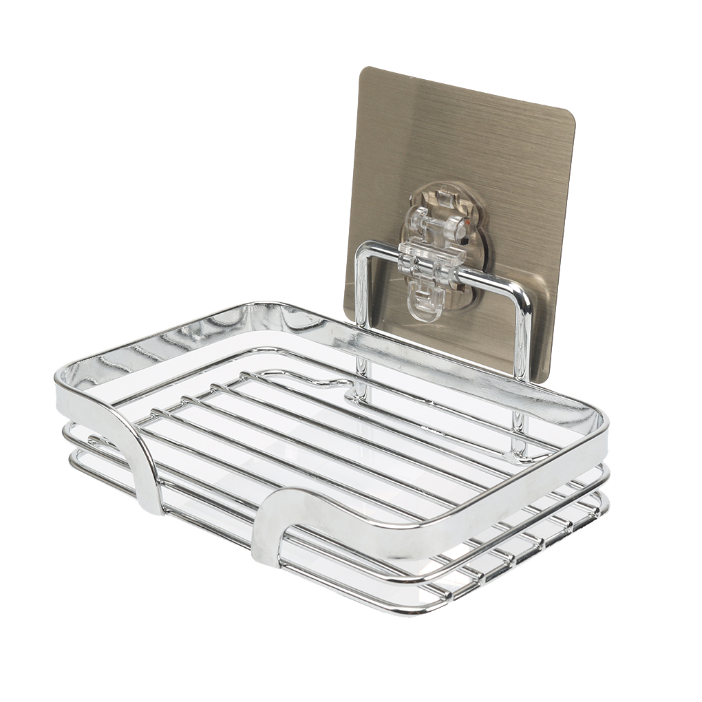 Soap Dish Holder Wall Mounted Self Adhesive Stainless