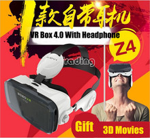 2016 NEW:VR Box 4.0 Version BOBO Z4 Google Cardboard Virtual Reality 3D Glasses With Headphone For 4.7″-6.2″Smartphone Free Ship