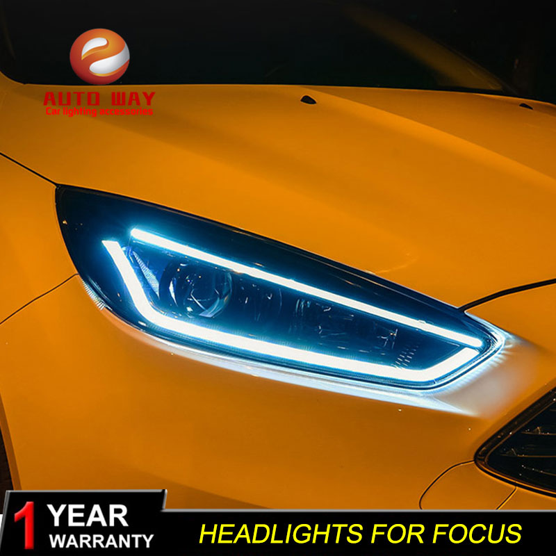 Car styling case for Ford Focus Headlights Focus Headlights LED Headlight DRL Lens Double Beam HID
