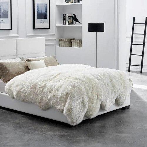 Sheepskin Rug 10p Fur For Bed Mat
