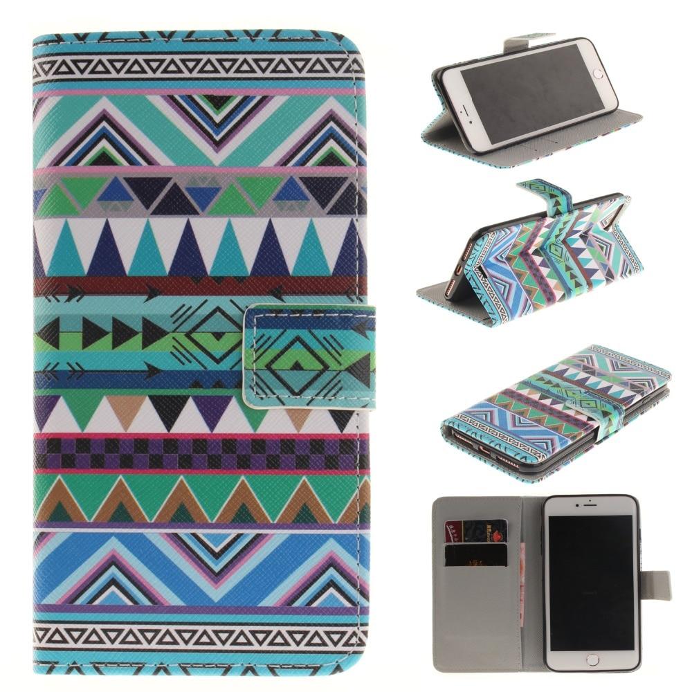 Para Iphone 7 Plus Cute Cartoon Lovers Totem Formula Leather Wallet - Accesorios y repuestos para celulares - foto 2