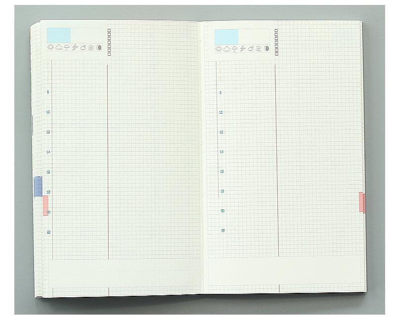 Färgrik inre bok för Hobonichi Journal Cover A5 Weekly Plan + - Block och anteckningsböcker - Foto 6