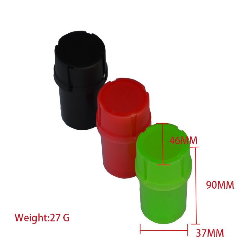 1pc Multi-function 2 in 1 Plastic Tobacco Grinder&Container