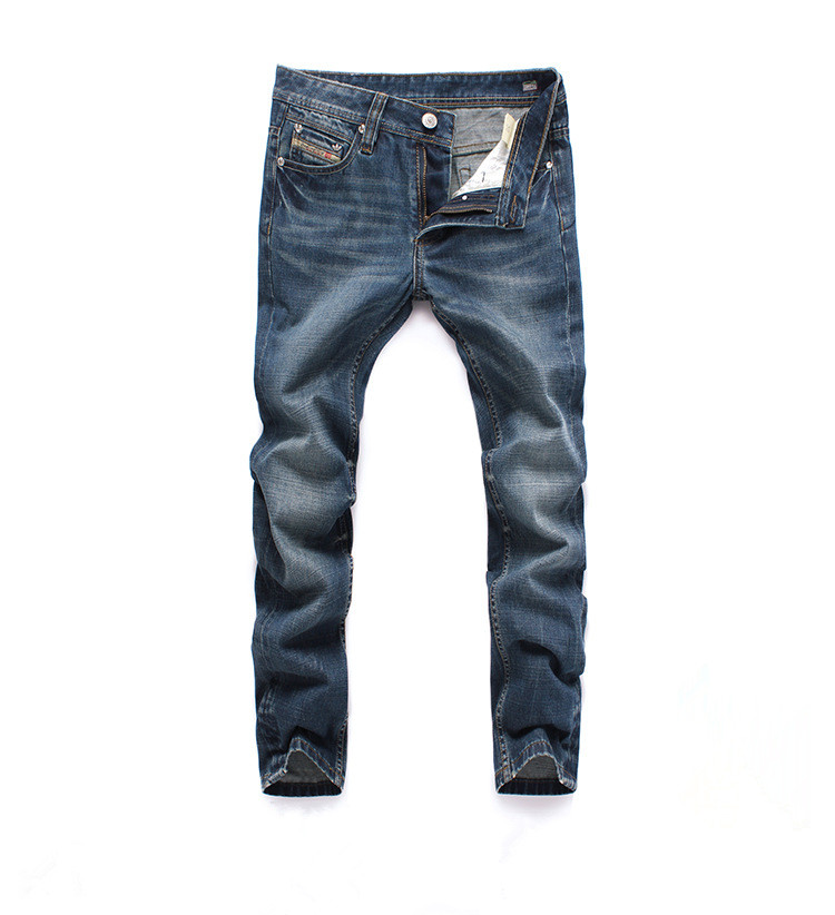 2018 Famous Designer Brand Upscale Cotton High Quality Men Jeans Trouser Straight Casual Style Pant for Male Jeans italian style fashion men s jeans shorts high quality vintage retro designer classical short ripped jeans brand denim shorts men