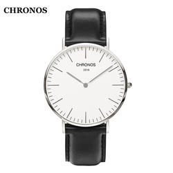 CHRONOS Для мужчин часы Лидирующий бренд Для женщин наручные Повседневное нейлон/кожа кварц-часы дамские часы Relojes Mujer