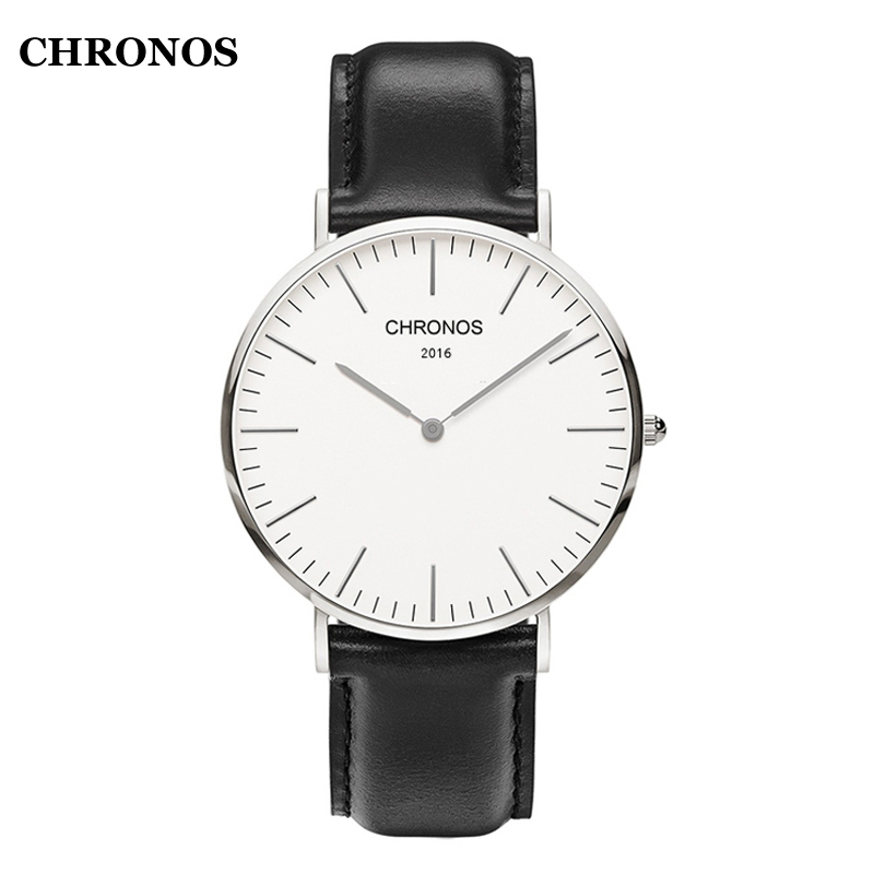 CHRONOS Men's Watches Top Brand Women Wristwatch Casual Nylon/Leather Quartz-Watch Ladies Clock Relojes Mujer women guou luxury watch bling genuine leather strap full crystal diamond quartz ladies wristwatch mujer relojes casual watches