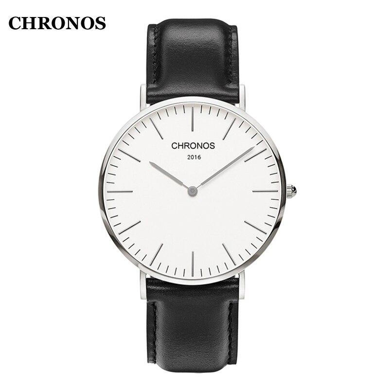 CHRONOS herren Uhren Top Marke Frauen Armbanduhr Casual Nylon/Leder Quarz-Uhr Damen Uhr Uhren Mujer