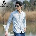 Pioneer Camp 2017 новая мода мужчины рубашки твердые slim fit случайные мужской социальной рубашка с длинным рукавом импортированы Британском стиле 666203