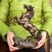 Бесплатная доставка Медь лошадь антикварные украшения фэн шуй украшения дома подарок