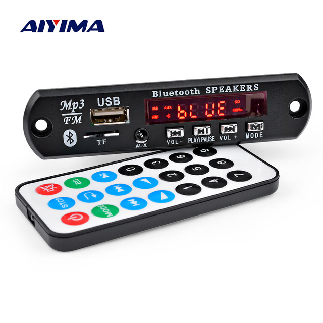 AIYIMA Amplificador Bluetooth 5.0 MP3 Decoder Board Receiver Stereo Sound Amplifier 15Wx2 Audio Decoding USB TF FM AUX Home Amp