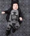 2017 Новая Мода детская одежда мальчик одежды наборы С Длинным рукавом маленькие монстры футболка + брюки 2 шт. новорожденных, детской одежды, набор