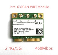Dual band 450 mbps wireless-n wifi wlan עבור intel 6300 633 6235anhmw 802.11a/g/n מיני pci-e כרטיס עבור acer asus dell toshiba