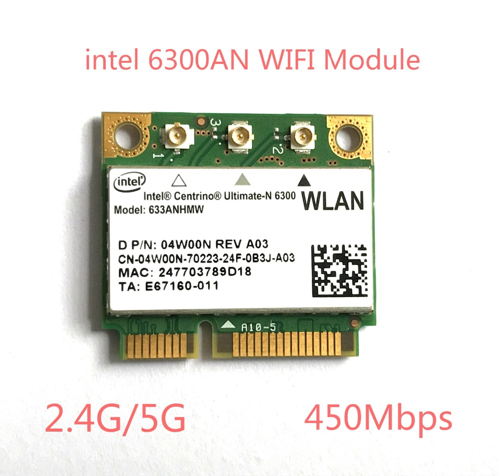 Dual band 450Mbps Wifi Wlan for Intel 6300 633ANHMW Wireless-N 802.11a/g/n Mini PCI-e Card For Acer Asus Dell Toshiba