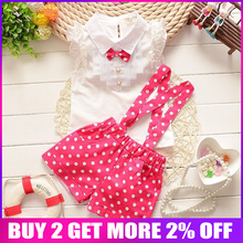 BibiCola baby Summer girls clothing sets baby girls overalls suit baby girls clothes set kids tracksuit set baby girl sport suit