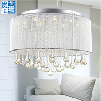 MAMEI Free Shipping Top Sales Modern Drum Chandelier Lamp Fixtures With Rain Drop Decoration CE FCC