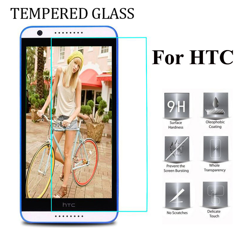 9H Tempered Glass For HTC M7 M10 One 2 M8 mini M9 Plus one max 626 320 620 728 828 530 830 A9 X9 S9 Cover Case Protective Film