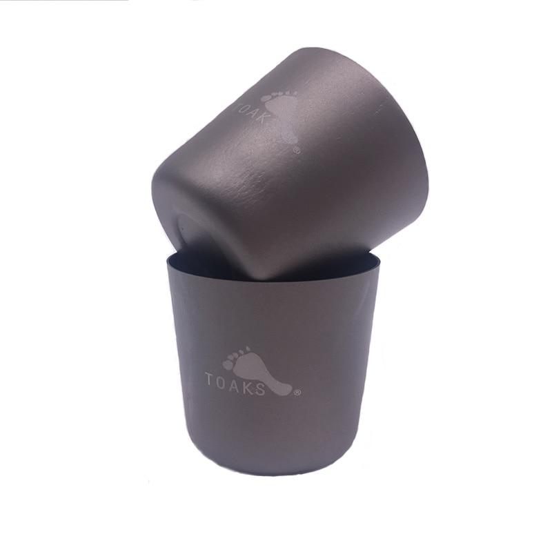 TOAKS 30ml Ultralight Mini Tea Cup Outdoor Camping Titanium Wine Glass Titanium Water Cup 2pcs/4pcs