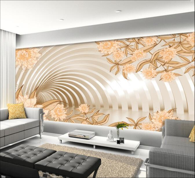 3d wallpaper custom mural non-woven Wall stickers Elegant flowers in 3d space living room wall  photo wallpaper for walls 3d 3d ceiling murals wallpaper custom photo non woven flowers dove in the sky painting 3d wall mural wallpaper for living room
