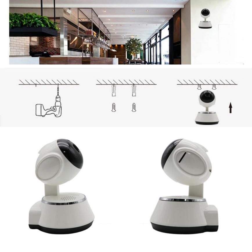 Binmer Accessories Parts Remote Control Wireless 720P Pan Tilt Network Home CCTV IP Camera IR Night Vision WiFi Webcam dec21 high quality wireless pan tilt 720p security network cctv ip camera wifi webcam with different accessories
