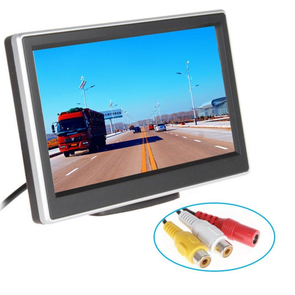 4.3'' Car rear view monitor for parking revering LCD Screen 2 video input car mirror Monitor for rearviewing camera car-detector