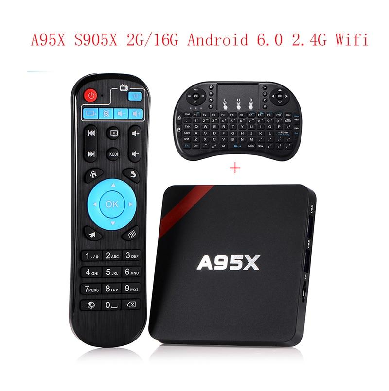 Newest Amlogic S905X TV Box nexbox A95X Nexbox Android 6.0 Box 2G/16G Quad core 2.4G Wifi  smart tv box android tv box nexbox a95x tv box 4k android 7 1 amlogic s905w quad core