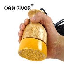 Hanriver aparelho de massagem elétrico, recipiente de massagem energética meridian para raspar cerâmica quente moxa regimen latas ajustar temperatura