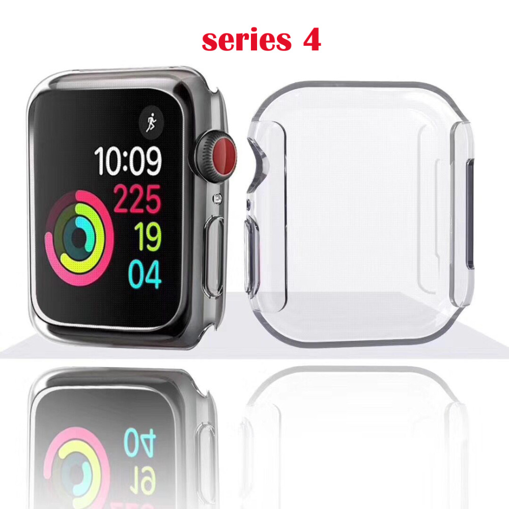 band For Apple Watch Series 4 40mm /44mm Clear Case Cover Transparent Color Bumper Case цвета apple watch 4