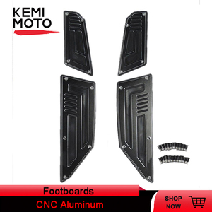 Image 1 - 4pcs Footboard Steps Front & Rear Footrest Pegs Plate For Yamaha T max TMAX 530 2012 2013 2014 2015 2016 Motorcycle Foot Panels